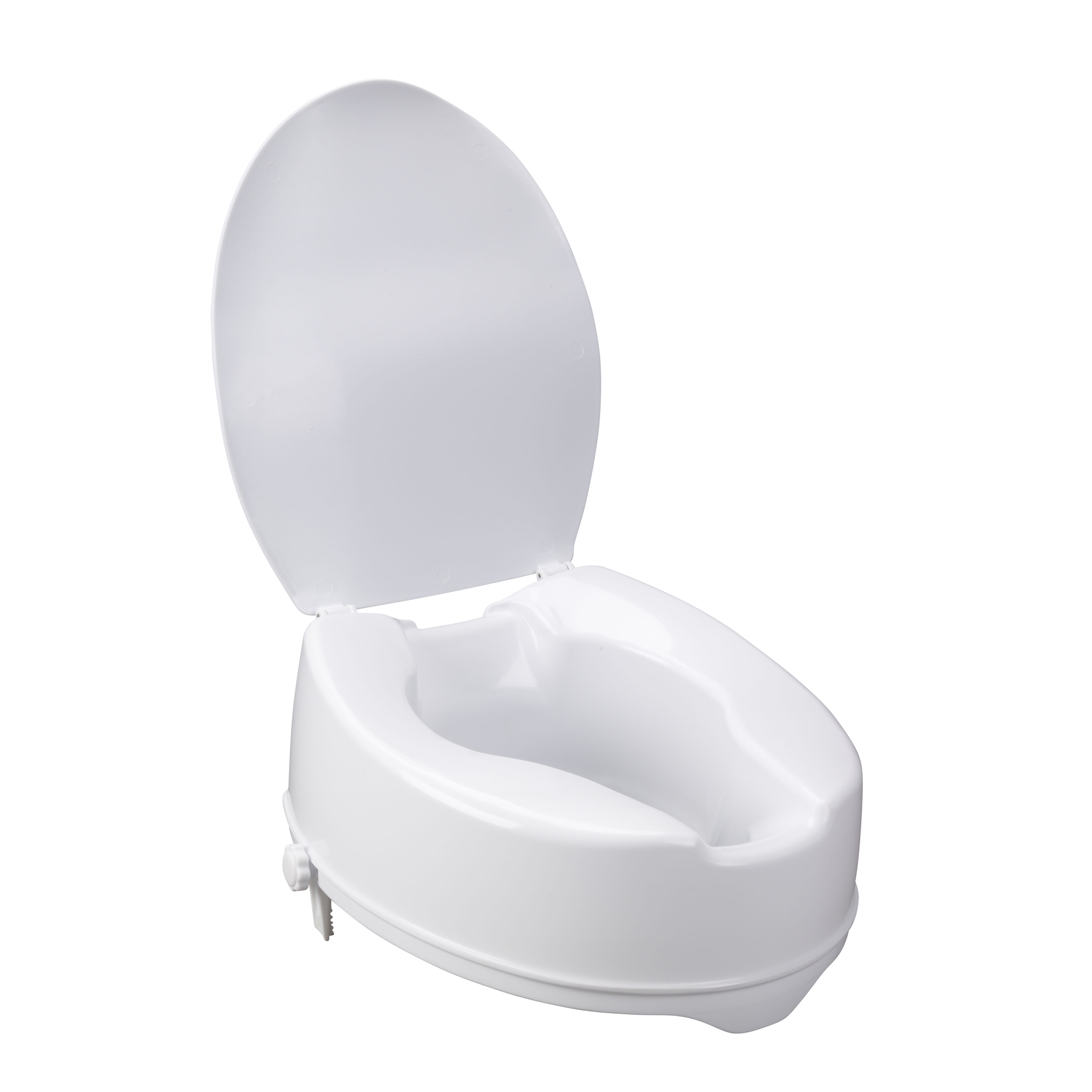 Astounding Raised Toilet Seat With Lock And Lid Standard Seat 6 Cjindustries Chair Design For Home Cjindustriesco